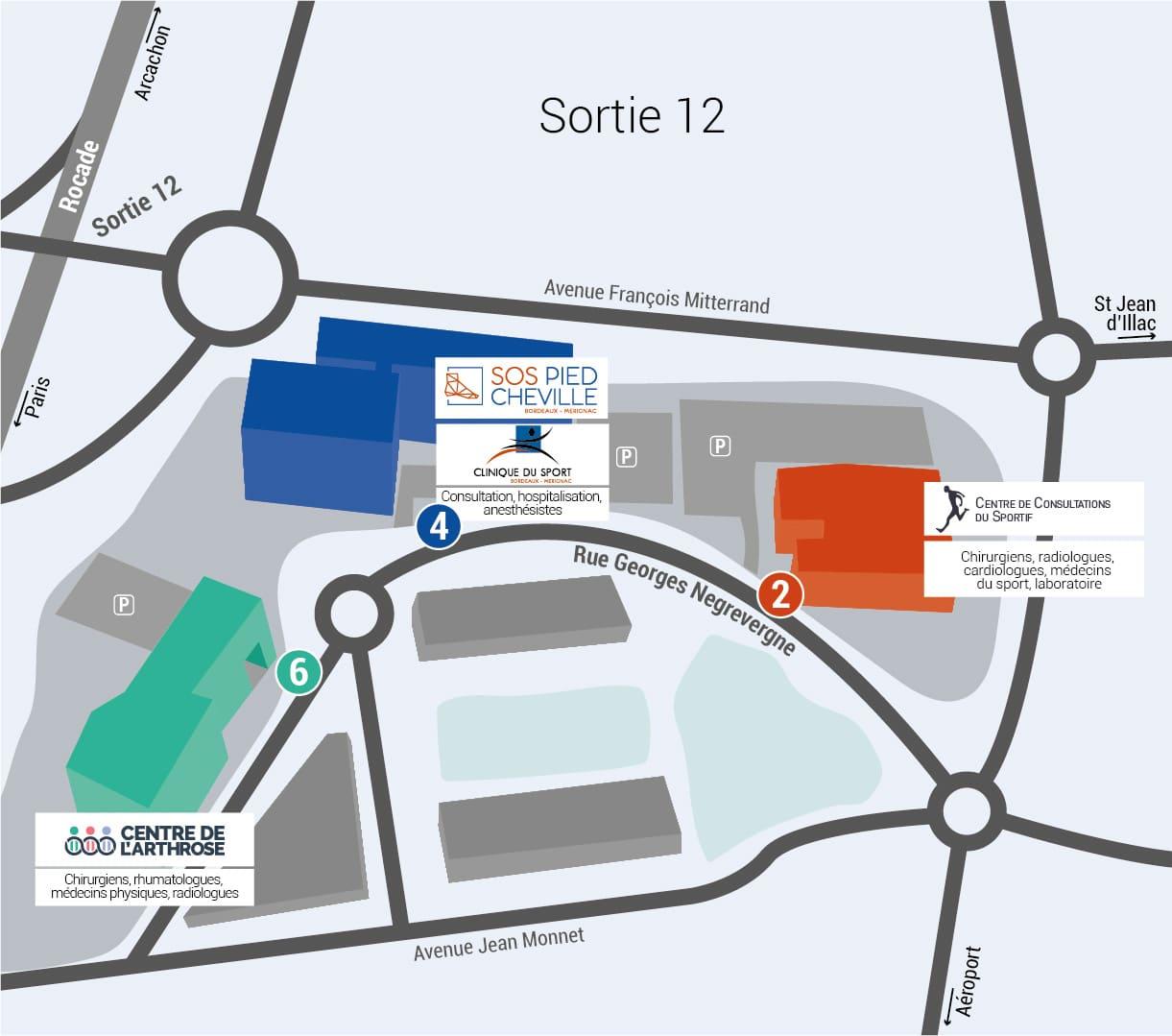 Centre SOS Pied Cheville : comment s'y rendre ?