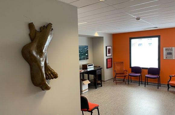 Centre SOS Pied Cheville : salle d'attente
