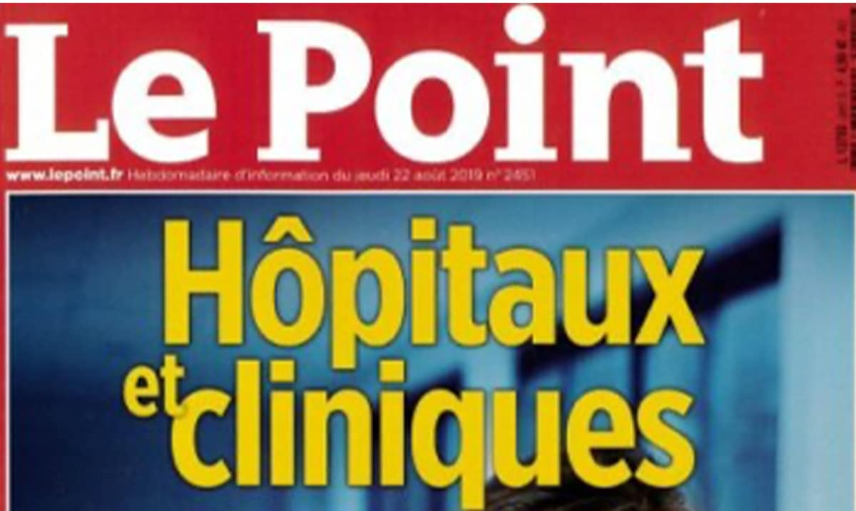 Presse : Le Point fait sa Une sur le classement des hôpitaux et des cliniques