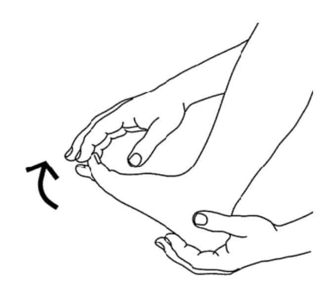 Autorééducation du gros orteil dans les suites d'un turf toe : flexion dorsale