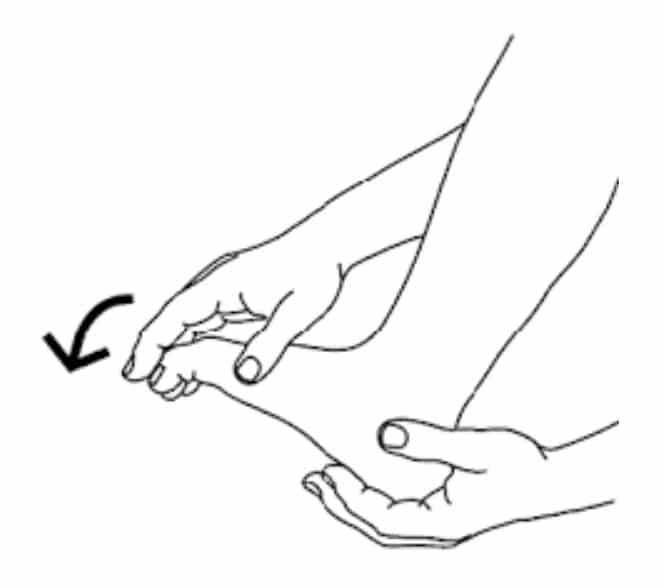 Autorééducation du gros orteil dans les suites d'un turf toe : flexion plantaire