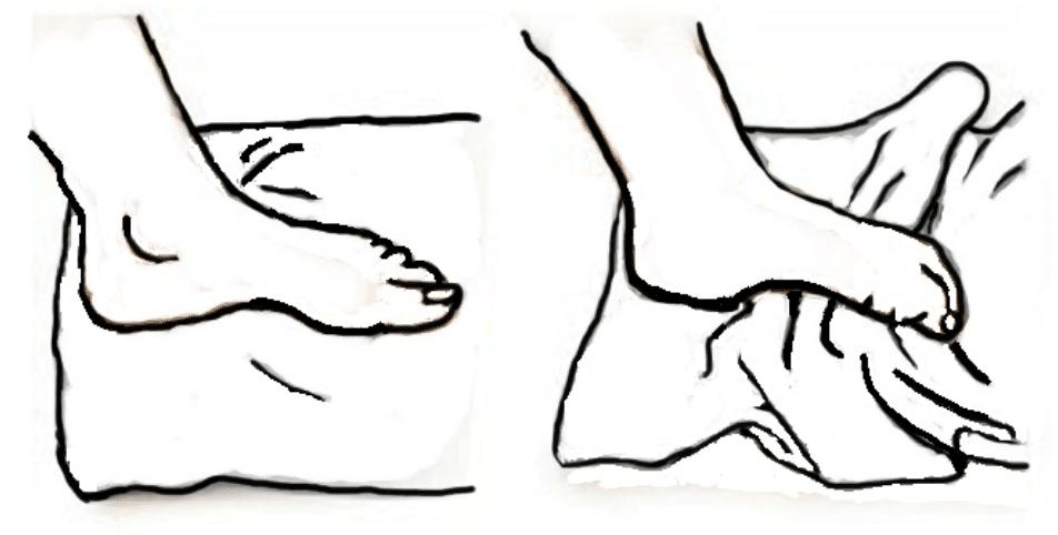 Autorééducation du gros orteil dans les suites d'un turf toe : froisser une serviette