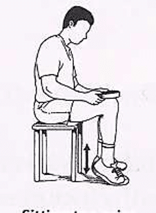 Protocole de Stanish : exercice assis